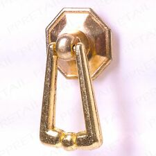 DECORATIVE BRASS Drop Ring Pull Handle Furniture Cupboard Cabinet Drawer Door