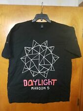 Maroon 5 Shirt 2Xl 2012 Concert Tour Exclusive Daylight graphics Black New