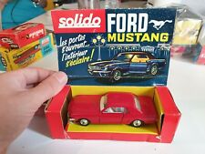 RARE VOITURE CAR FORD MUSTANG ROUGE SOLIDO REF 147 VF FR  BOITE BOX
