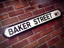 Baker Street Old Fashioned Wood London Street Sign Vintage Road Sherlock Holmes