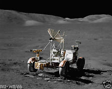 The Lunar Roving Vehicle (LRV) at the Taurus-Littrow Llanding Site on the Moon