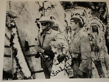 BEVERLY WASHBURN / LONE RANGER /  8 X 10  B&W  AUTOGRAPHED  PHOTO