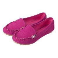 Mujer Suelas Blandas Ante Mocasines Bailarinas Pantuflas Casual Zapatos Planos