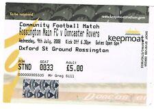 Ticket - Rossington Main FC v Doncaster Rovers 09.07.08