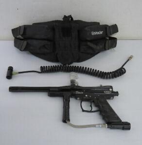Spyder Sonix Green Black Paintball Gun Marker Lot W/ Belt Pouch accessory Black