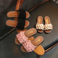 Toddler Kid Baby Girl Beach Princess Shoes Ruffles Casual Summer Sandals Slipper