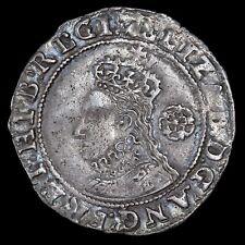 Elizabeth I, 1558-1603. Hammered Sixpence, 1595. Mint Mark Key.
