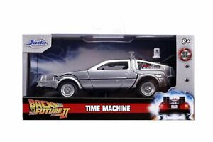 BACK TO THE FUTURE 2 DELOREAN 1:32 SCALE DIE-CAST METAL VEHICLE JADA TOYS CAR