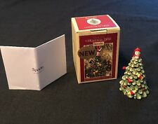2016 Spode Led Multicolored Ceramic Christmas Tree Ornament~New