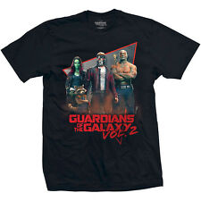 GUARDIANS OF THE GALAXY 2- EIGHTIES Official T Shirt Size S Black Mens Licensed