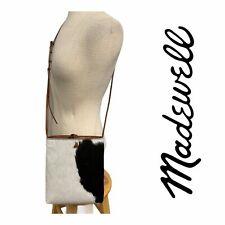 Madewell Slim Brooklyn Crossbody Handbag Purse Cow Print Calf Hair Multi