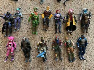 "Lot of 13 McFarlane Toys ""Fortnite"" Action Figures Plus Accessories /blocks"