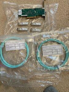 4 X DELL 0WTRD1 SFP-10G-SR transceiver + 2 Fibre cables +HP 671798-001 10Gb