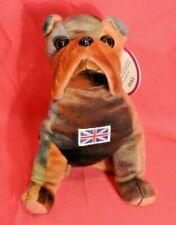 Nwt Peaceables~Winston Bulldog Beanbag Plush~United Kingdom Flag~Collectable Toy