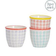 Flower Plant Pot Ceramic Porcelain Indoor Outdoor Garden - 3 Swirl Designs