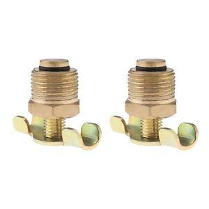 2Pcs Plug Valve for Air Compressor Tank Port Fitting 16mm Bsp Thread
