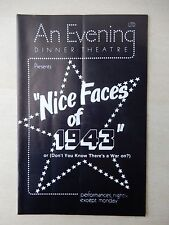 1975 - An Evening Dinner Theatre Playbill - Nice Faces Of 1943 - Jane Brody