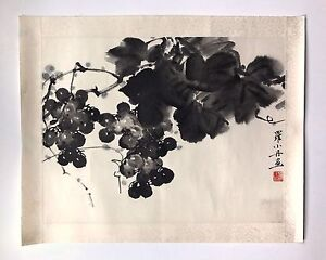 A Vintage Original Signed Chinese Watercolor Scroll Painting