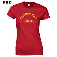 013 Stephen King Rules Womens T-Shirt movie 80s costume horror thriller monster