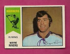 RARE 1974-75 OPC WHA # 13 MARINERS WAYNE RIVERS GOOD CARD (INV#5169)