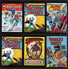 Vintage Art of DC Comics 6 Post Card Superman Lot ~ #1 Supergirl Batman Action