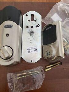 Schlage BE469WKVCAM619 Camelot Satin Nickel Touchscreen Deadbolt With Alarm