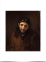 REMBRANDT VAN RIJN HEAD OF CHRIST BIG BORDERS LIMITED EDITION ART PRINT 18X24