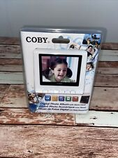 NEW SEALED COBY DP356 WHITE DIGITAL PHOTO / MP3 PLAYER/ CLOCK / CALENDER ALBUM