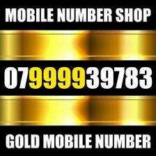 GOLD Easy Memorable VIP UK Business Mobile Number PLATINUM Sim Card 999
