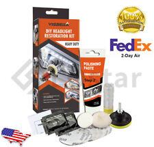 DIY Headlight Restoration Kit - Automotive Lamp Cleaning Restore Heavy Duty