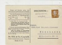 germany 1929 medical  stamps card ref 18951