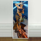 """Stunning Alphonse Mucha `The Evening Star' ~ CANVAS PRINT 24""""X10"""" Art Nouveau"""