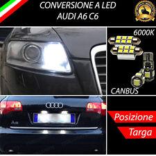 COPPIA LUCI DI POSIZIONE + COPPIA LUCI TARGA 6 LED CANBUS AUDI A6 C6
