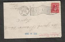 1904 cover Eau Claire WI flag cancel to number 1 to Doniphan KS Kansas