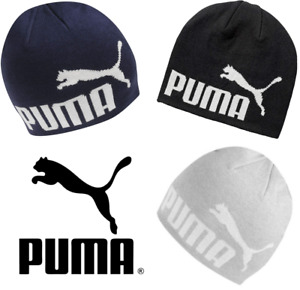 Puma Big Cat Beanie Hat Mens Adult Unisex Winter Warm Grey Black Navy One Size