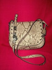 MICHAEL KORS HAMILTON TRAVELER STUDDED PYTHON LEATHER CROSS BODY NWOT