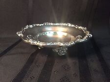 Vintage decorative 3-footed silver plated dish      (T 2)