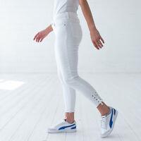 Levi's 711 Skinny Cropped Damen Weiß Jeans DE 38 / US W30