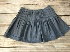 Aeropostale Denim Jean Pleated Woven NWT Small  chambray Womens Mini Skirt