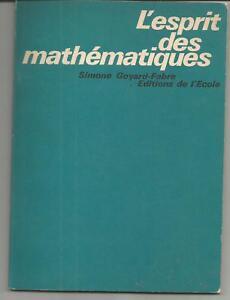 Simone GOYARD-FABRE L'esprit des mathématiques