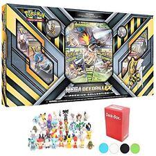 Pokemon Mega Beedrill Ex Premium Collection Box Plus 6 Pokemon Figures and Deck