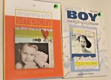 Scrapbook Guides Designs With Simplicity & All Boy Scrapbook Pages Lot of 2