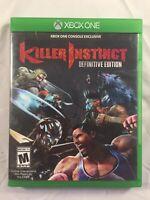 XBOX ONE KILLER INSTINCT DEFINITIVE EDITION 2 PLAYER LEGENDARY FIGHTING GAME XB1