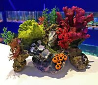 17cm Multi Colourful Coral Garden Rocks & Plants Aquarium Fish Ornament MS360