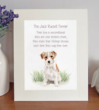 Jack Russell Terrier BESTEST CHUM Poem 8 x 10 Picture/10x8 Print Novelty Gift