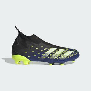 Scarpe Calcio Adidas Predator Freak.3 LaceLess FG CoreBlack/CloudWhite/SolYellow