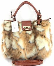 LADIES DESIGNER INSPIRED STYLISH FAUX FUR WINTER QUALITY SHOULDER HANDBAG