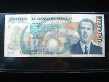 MEXICO 10000 PESOS 1991 MEXICAN CIRC 2832# CURRENCY BANKNOTE MONEY