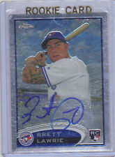2012 Topps Chrome Brett Lawrie Auto Rookie Card RC #173 Mint