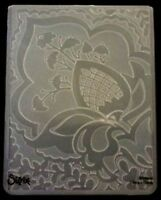 Sizzix Large Embossing Folder FREE SPIRIT FLORAL BUDS fits Cuttlebug 4.5x5.75in